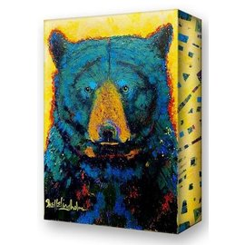Metal Box Art Aurora Black Bear