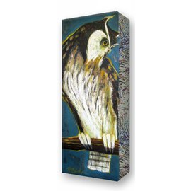 Metal Box Art Listening Owl