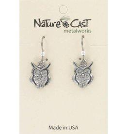 Nature Cast Horned Owl Earrings