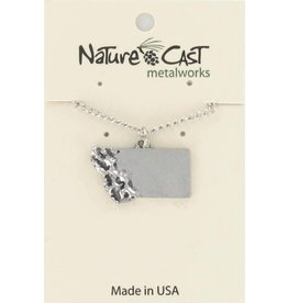 Nature Cast Montana Necklace w/mountains Silver