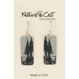 Nature Cast pine tree earrings