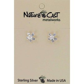 Nature Cast Sterling silver post earrings Flower