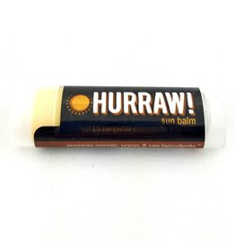 HURRAW! SUN BALM - SPF15 - Tangerine Chamomile - single tube lip balm