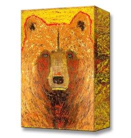 Metal Box Art Hawk Bear