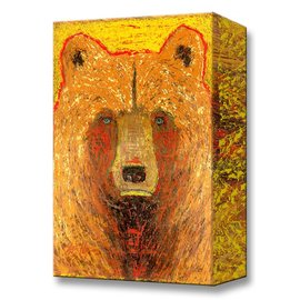 Metal Box Art Hawk Bear