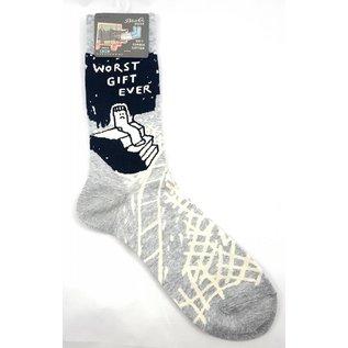 Blue Q Crew Sock - Worst Gift Ever