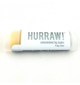 HURRAW! UNSCENTED - single tube lip balm