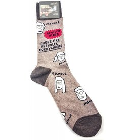 Blue Q Crew Sock - There are Assholes Everywhere