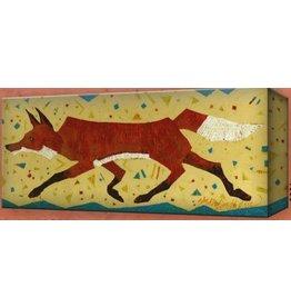 Metal Box Art Happy Go Lucky Red Fox