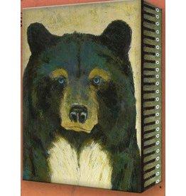 Metal Box Art Timber Blue Bear