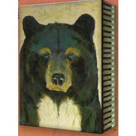 Metal Box Art Timber Blue Bear