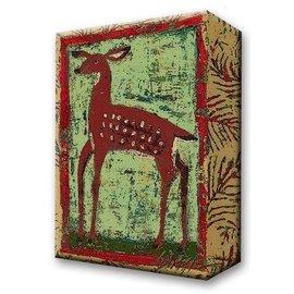 Metal Box Art Fauna Deer