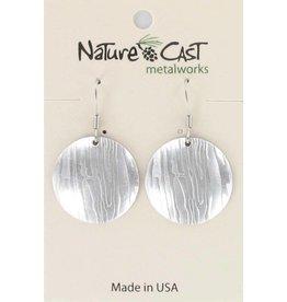 Nature Cast Wood Grain Disc Earrings