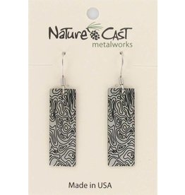 Nature Cast Topographic Map Earrings
