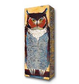 Metal Box Art Knowing Owl Metal Box Art