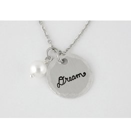Stamped Aluminum Jewelry Dream Charm Necklace