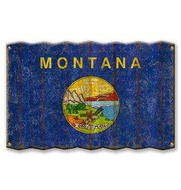 Metal Box Art Montana State Flag 18x30