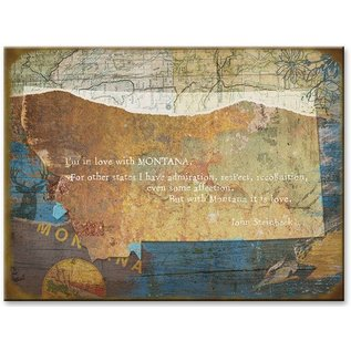 Metal Box Art Love Montana Aluminum/Wood 23x31