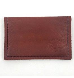 TLS Wallets Buffalo Leather Card Case - Mahogany