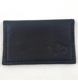 TLS Wallets Buffalo Leather Card Case - Black