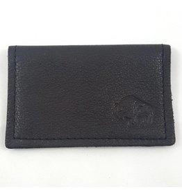 TLS Wallets Buffalo Leather Card Case - Chocolate