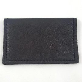 TLS Wallets Buffalo Leather Card Case - Chocolate