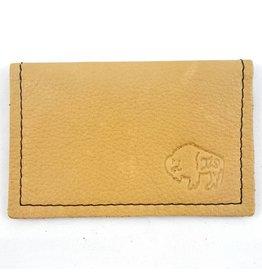 TLS Wallets Buffalo Leather Card Case - Saddle
