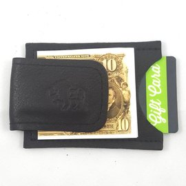 TLS Wallets Buffalo Leather Money Clip/Card Case - Chocolate