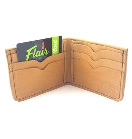 TLS Wallets Buffalo Leather Wallet - Bi-fold Saddle