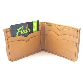 TLS Wallets Buffalo Leather Wallet - Bi-fold Saddle