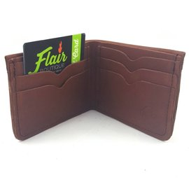 TLS Wallets Buffalo Leather Wallet - Bi-fold Mahogany