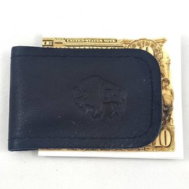 TLS Wallets Buffalo Leather Magnetic Money Clip - Black