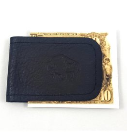 TLS Wallets Buffalo Leather Magnetic Money Clip - Chocolate