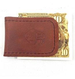 TLS Wallets Buffalo Leather Magnetic Money Clip - Mahogany