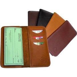 TLS Wallets Buffalo Leather Diplomat Roper Wallet Mahogany