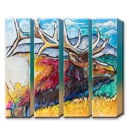 Metal Box Art Elk Tetra Metal Box Art - Ed Anderson
