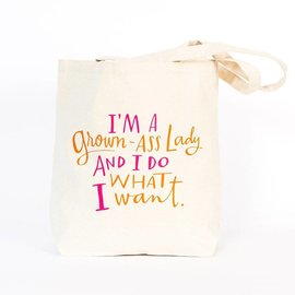 Emily McDowell Canvas Tote - GROWN-ASS LADY