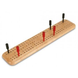 Wood crib boards & boxes Travel Cribbage birds-eye Maple