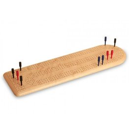 Wood crib boards & boxes Birdseye Maple 3 track continuous cribbage board