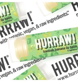 HURRAW! baobab banana - single tube lip balm