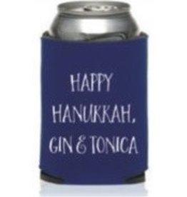 Happy Hanukkah, Gin & Tonica coozie