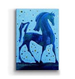 Metal Box Art Walking Tall Horse