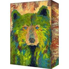 Metal Box Art Fern Bear