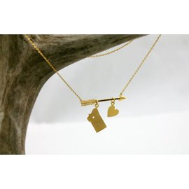 The Montana Way Follow Your Arrow Necklace gold
