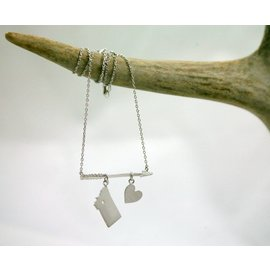 The Montana Way Follow Your Arrow Necklace silver