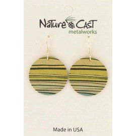Nature Cast stripes on round earrings