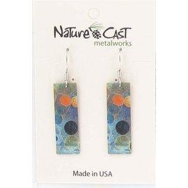 Nature Cast earring dangle aerial landscape