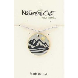 Nature Cast TWO TONE MOUNTAIN NECKLACE
