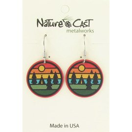 Nature Cast camping stripes dangle earring
