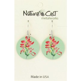 Nature Cast Indian paintbrush dangle earring